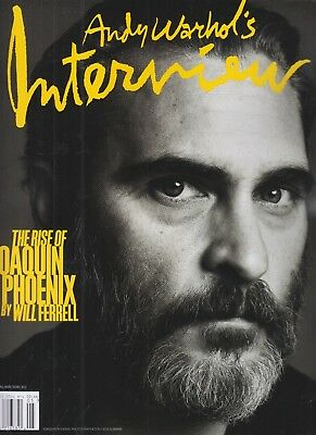 Joaquin Phoenix Andy Warhol's Interview Magazine April May 2018