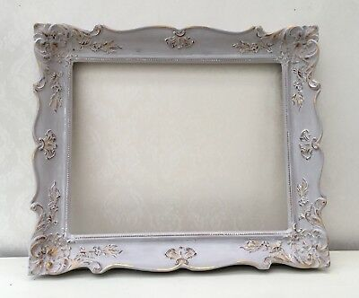 LARGE VINTAGE ORNATE Shabby Chic Aged Picture Frame Solid Wood/Heavy ...