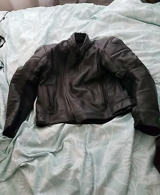 mens leather motorbike jacket used