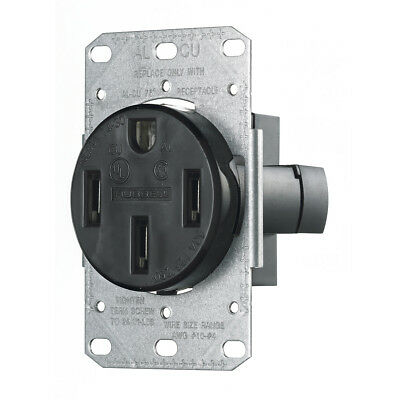 Hubbell TradeSelect Range & Dryer Power Receptacle RR450F 50A 3 Pole Flush Mount