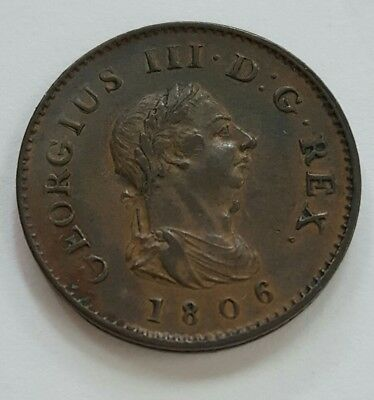 Great Britain 1806 Farthing Xf + Mint Lustre- Seaby Auction-
