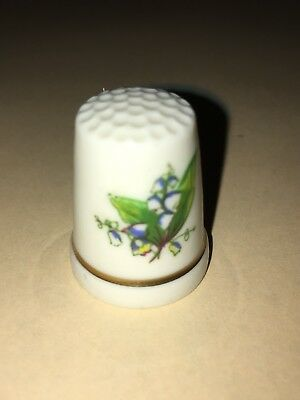 FINGERHUT Thimble Porzellan Porcelain Maiglöckchen Lily of the valley