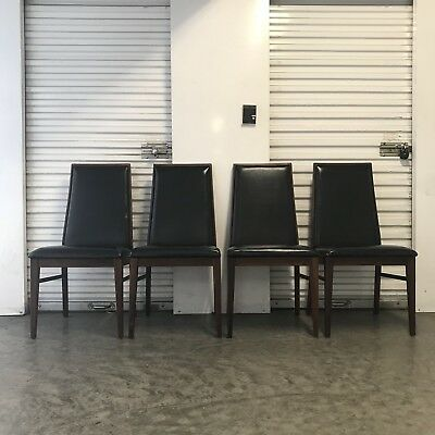 Set Of 4 Mid-Century Walnut Dining Chairs By Milo Baughman For Dillingham