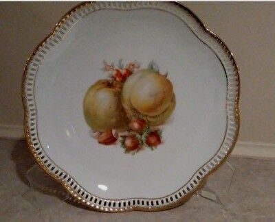 Vintage Decorative Plate with Riticulated Border - Shumann Arzberg Germany