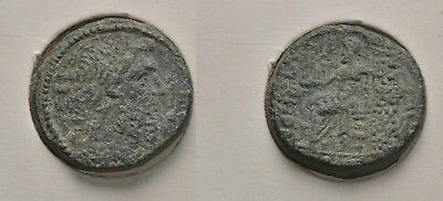 Ancient Greece Syria, Seleukis and Pieria 150BC Zeus/Nike AE20