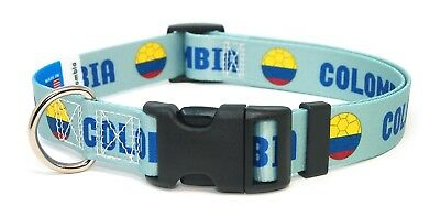 Colombia Colombian World Cup Soccer Dog Collar for Small Medium Large Dogs
