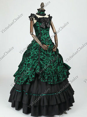 Southern Belle Old West Masquerade Gown Victorian Dress Theater Steampunk N 135