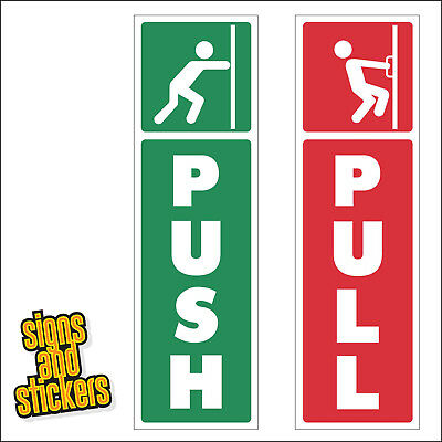 Push and Pull Door Window Vinyl Sticker Decal Visual Information guide
