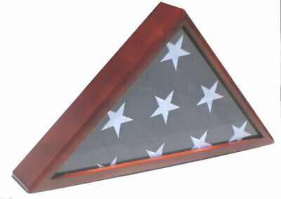 Solid wood Memorial Flag Display Case for Memorial/Funeral/Casket 5'X9.5' flag