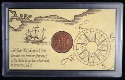 1808 East India Company X Cash, Shipwreck Coin, Admiral Gardner, Free Shipping!