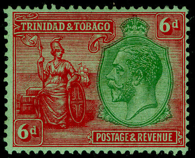 TRINIDAD AND TOBAGO SG226, 6d green & red/emerald, LH MINT.