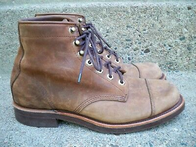 1f6686cf4a8 MEN'S CHIPPEWA KATAHDIN Iron Works Engineer Boots LL Bean Leather Vintage  Size 9