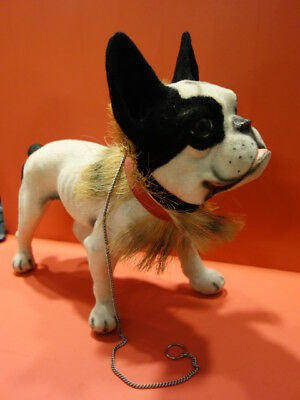 All Original French Bulldog With Growler Pull Along Toy 1960