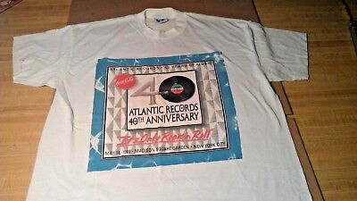 1988 ATLANTIC RECORDS 40th ANNIV CONCERT SHIRT ITs ONLY ROCK & ROLL LED ZEPPELIN