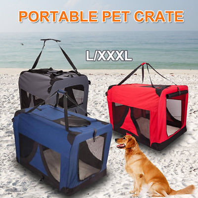 AU Foldable Portable Pet Dog Cat Soft Carrier Travel Cage Crate Kennel L/XXXL