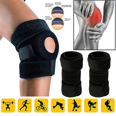 Adjustable Strap Knee Brace Open Patella Pad Support Wrap Sports Relief Pain