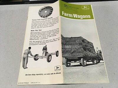 Vtg John Deere Farm Wagons 953 963 1040 1065 1074 Original Sales Brochure