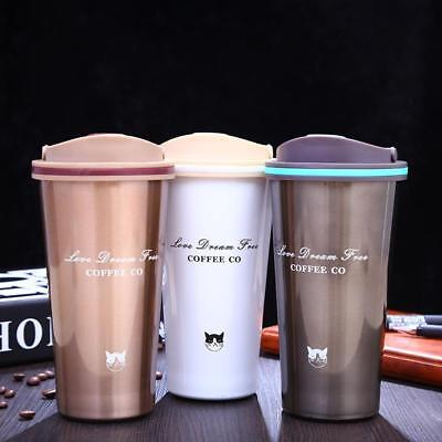 Thermos Cups 500ML Stainless Steel Vacuum Flasks Water Bottle Travel Coffee Mugs