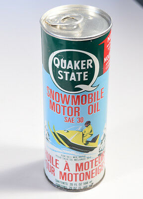 Vintage Quaker State Snowmobile Oil - Full Can! Great Display Item.