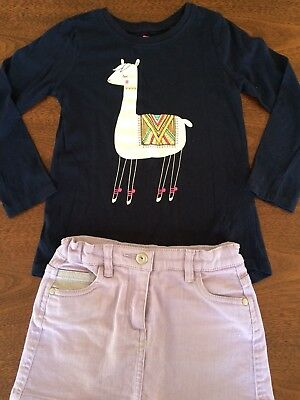 Cotton On Girls Long Sleeve Top & Skirt Size 5