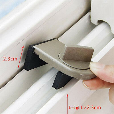 Security Sliding Door Window Lock Safety Lock Sliding Sash Stopper For Kids XE