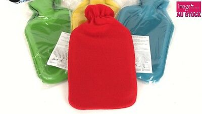 1.7L Hot Water Bottle with Fleece Cover Case Soft Cosy Warm Winter Use