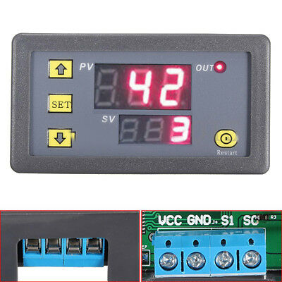12V Digital LED Programmable Timer Relay Switch Module Display Cycle 0-999 Hour