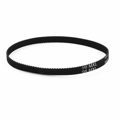 98MXL025 Timing Belt 123-Tooth 6.4mm Width Black Industrial Synchronous 9.8""