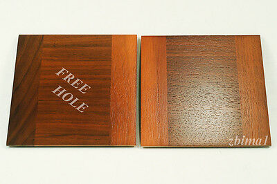 """1 LENS BOARD 5.5"""" x 5.5"""" FOR TACHIHARA 8""""x10""""- Solid Walnut, undrilled/free hole"""