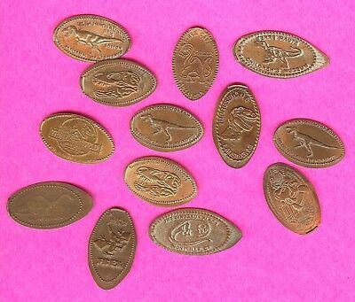 Dinosaurs Jurassic and Cretaceous periods and More Elongated Smashed Penny Lot