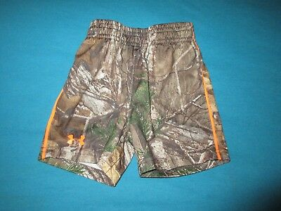 UNDER ARMOUR REALTREE Boys Camo Shorts Size 18 Months 18M