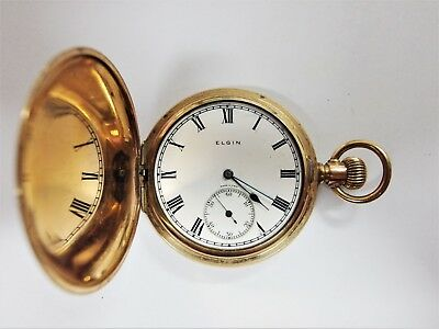 Elgin Pocketwatch Full Hunter (Needs repair or for parts)