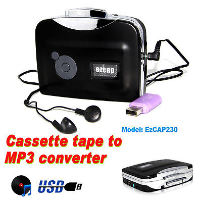 Tape to PC USB Cassette to MP3 Converter Capture Adapter Audio Music Player AU