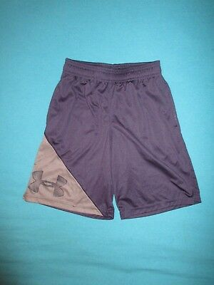 UNDER ARMOUR Boys Navy Gray Athletic Shorts Size Small S