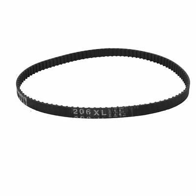 206XL Timing Belt 103 Teeth 10mm Width Black Rubber Cogged Industrial 20.6inch