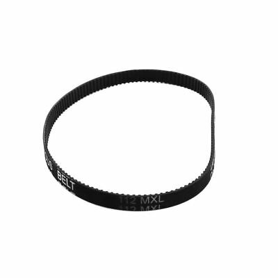 "112MXL025 Timing Belt 140 Teeth 6.4mm Width Black Industrial Groove 11.2"" Girth"