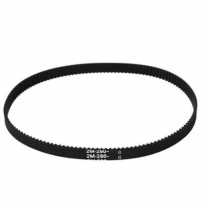 H● 3D Printer Timing Belt 2GT-6 Ring Closure 280mm Crcumference Black