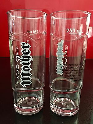 MOTHER Energy Drink Promo Acrylic Drinking Glasses 250ml Set Of 2