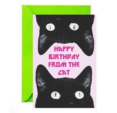 Happy Birthday From The Cat Birthday Card Meow Pussy