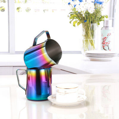 600ML Espresso Coffee Milk Jug Latte Frothing Pitcher Stainless Steel