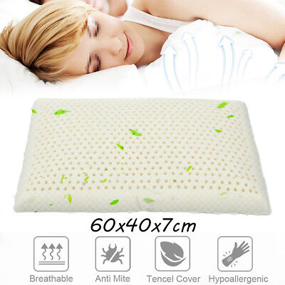 60x40cm 100% Natural Standard Latex Pillow for Neck Pain Fatigue Relief Home Bed