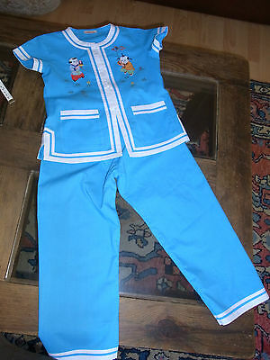 Pajamas Child Embroidered T6 Years Vintage 70/80 Size 6yrs