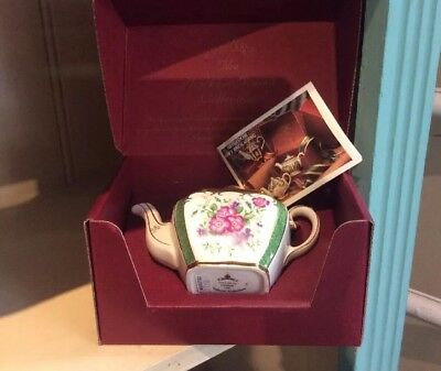 SADLER Boxed Mini Teapot Evesham Pattern, From Heirloom Collection,