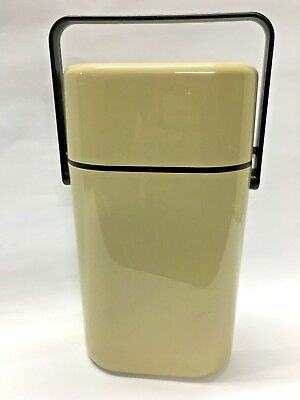 Retro DECOR Two Bottle Wine Cooler With Freezer Bottle Beige Brown GC