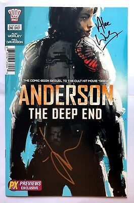 2000AD  Anderson Deep End Jock variant Signed by JOCK + Alec Worley NM NEW B&B