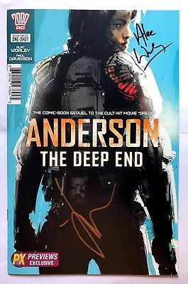 2000AD  Anderson The Deep End Jock PX variant signed by Alec Worley NM NEW B&B