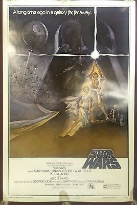 RARE PMS Printers Proof Side Trimmed 1977 Star Wars Style A 27x41 ROLLED 77/21-0