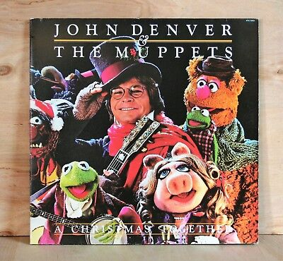 1979 RCA Records JOHN DENVER & MUPPETS Christmas Album WITH POSTER vg