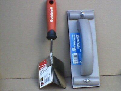 Goldblatt Outside Corner Trowell G05529 & Hand Sander G05445 Drywall Tool Set