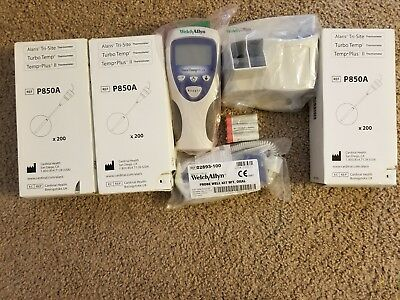 Welch Allyn Sure Temp Plus 692 Anti Theft System New Open Box Plus 600 Probes